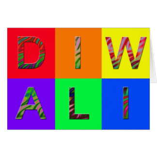 Cartão jazzístico de Diwali