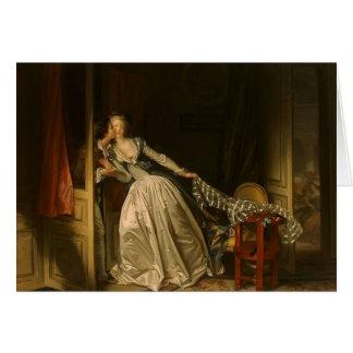 Cartão Jean-Honore Fragonard- o beijo roubado