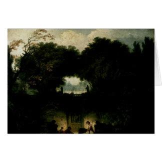 Cartão Jean-Honore Fragonard- o parque pequeno