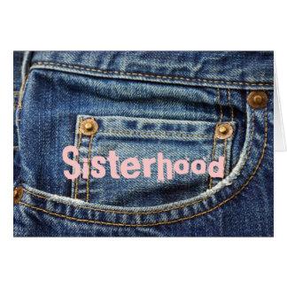 Cartão-Jeans, irmandade, amigos toda a ocasião