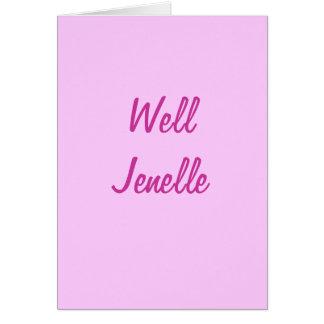 Cartão Jenelle bom