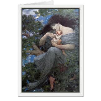 Cartão Jessie Willcox Smith - a grande árvore de faia