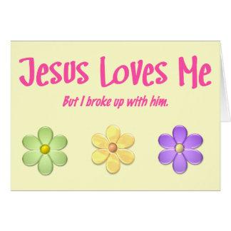Cartão Jesus ama-me