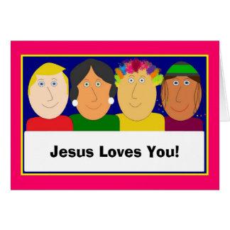 Cartão Jesus ama-o!