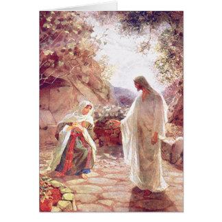 Cartão Jesus aparece à Maria Madalena