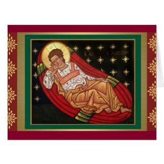 Cartão Jesus Cristo, o ÍCONE Unsleeping do olho