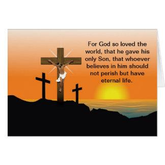 Cartão Jesus Cristo preto