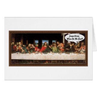 Cartão Jesus Cristo quando nós comermos? - Última ceia