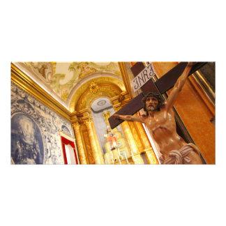 Cartão Jesus na cruz