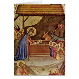 Cartão Jesus no comedoiro - Bernardo Daddi