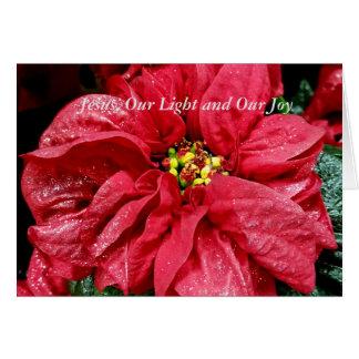 Cartão Jesus nossa luz e nossa alegria