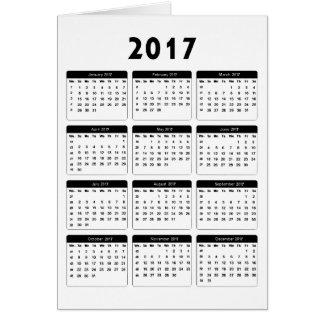 Cartão jGibney de 2017 calendários os presentes de Zazzle