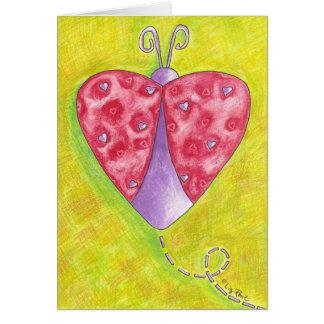 Cartão Joaninha bonito