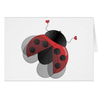 Cartão Joaninha com asas de Opern