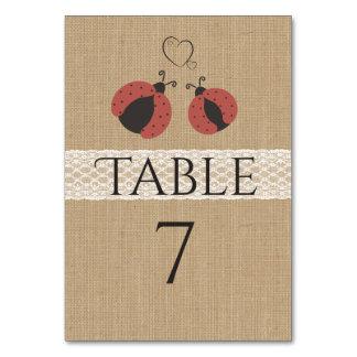 Cartão Joaninhas românticos rústicos de serapilheira no