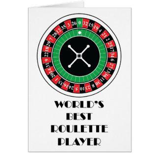 Cartão Jogador da roleta do mundo o melhor