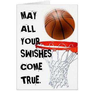 Cartão Jogador de basquetebol