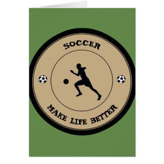 Cartão Jogador de futebol