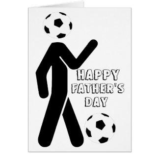 Cartão jogador de futebol, dia dos pais feliz