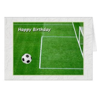 Cartão Jogador de futebol do feliz aniversario