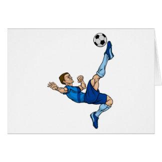 Cartão Jogador de futebol do futebol dos desenhos
