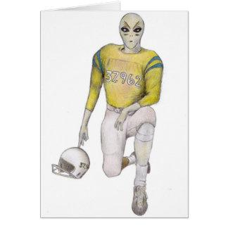 Cartão Jogador de futebol estrangeiro