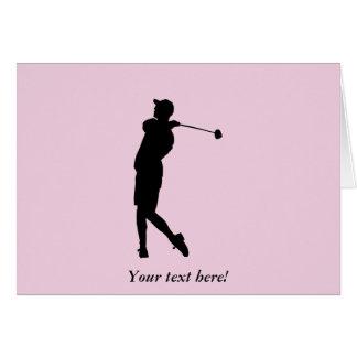 Cartão Jogador de golfe