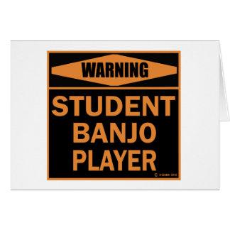 Cartão Jogador do banjo do estudante