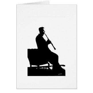Cartão Jogador do clarinete