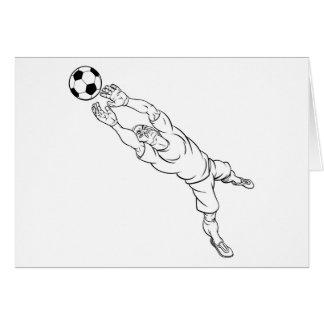 Cartão Jogador do depositário do objetivo do futebol do