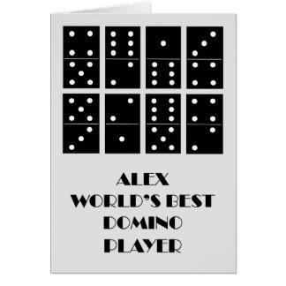 Cartão Jogador do dominó do mundo de Alex o melhor