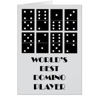 Cartão Jogador do dominó do mundo o melhor