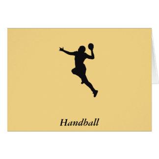 Cartão Jogador do handball