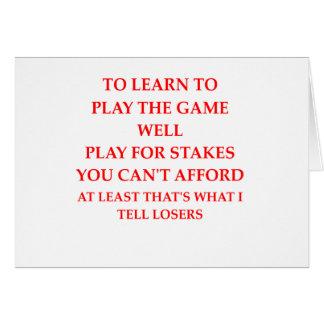 Cartão jogador do jogo