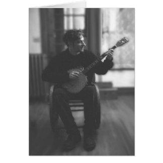 Cartão Jogador urbano do banjo