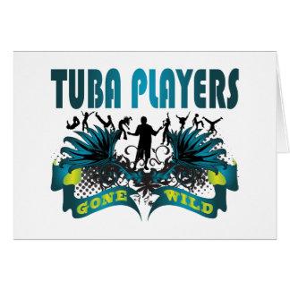 Cartão Jogadores da tuba idos selvagens