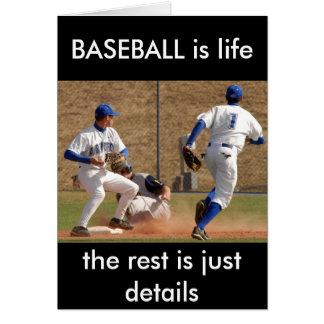 Cartão Jogadores de beisebol na foto do campo