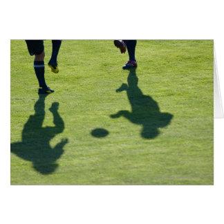 Cartão Jogadores de futebol que fazem brocas