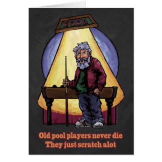Cartão Jogadores idosos da piscina