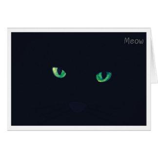 Cartão Jogar cartas gato - Meow