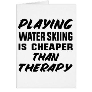 Cartão Jogar o esqui aquático é mais barato do que a