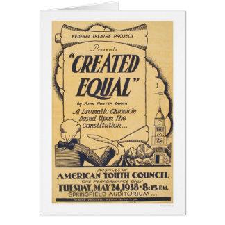 Cartão Jogo americano da juventude WPA 1938