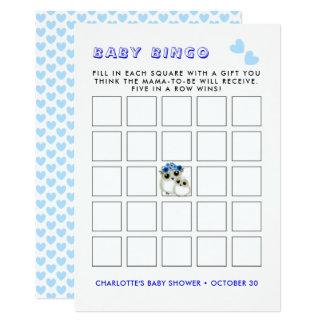 Cartão Jogo bonito do Bingo do chá de Boyl do bebê das
