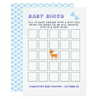 Cartão Jogo bonito do Bingo do chá de fraldas do Xmas |