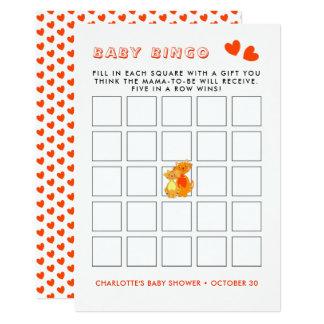 Cartão Jogo bonito super do Bingo do bebê do gato e do