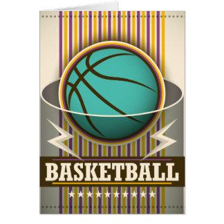 Cartão Jogo de bola do esporte do basquetebol legal