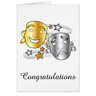 Cartão Jogo do desempenho do drama das felicitações com