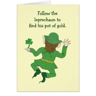 Cartão jogo do leprechaun