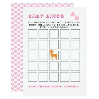 Cartão Jogo irrisório do Bingo do chá de fraldas do