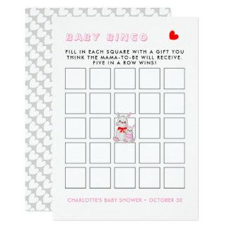 Cartão Jogo irrisório do Bingo do chá de fraldas dos